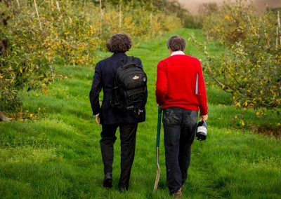 Taittinger's Pierre-Emmanuel Taittinger, with Hatch Mansfield's Patrick McGrath walking the bounds of their new venture