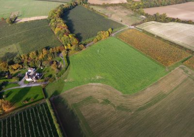 Aerial view in Autumn 2016